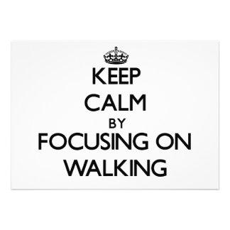 Mantenha a calma centrando-se sobre o passeio