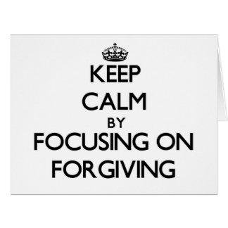 Mantenha a calma centrando-se sobre o perdão cartoes