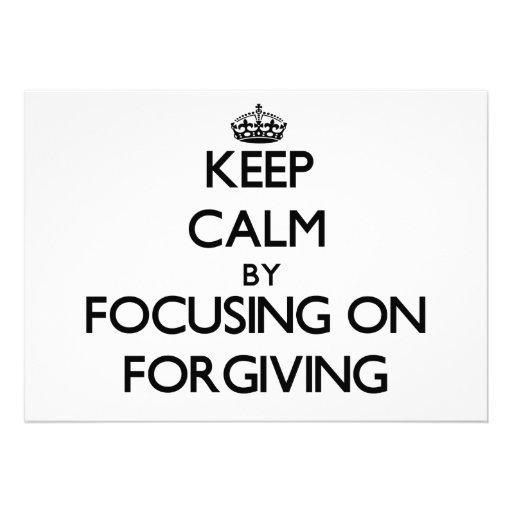 Mantenha a calma centrando-se sobre o perdão convites