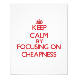 Mantenha a calma centrando-se sobre o preço baixo modelos de panfleto