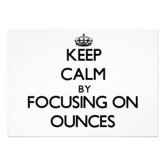Mantenha a calma centrando-se sobre onças
