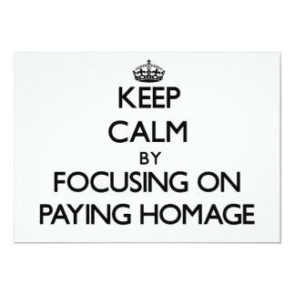 Mantenha a calma centrando-se sobre pagar a convite 12.7 x 17.78cm