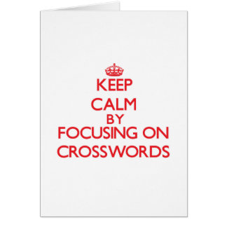 Mantenha a calma centrando-se sobre palavras cartão