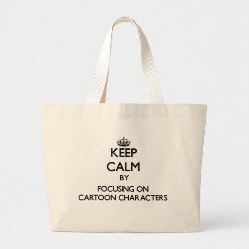 Mantenha a calma centrando-se sobre personagens de bolsas para compras