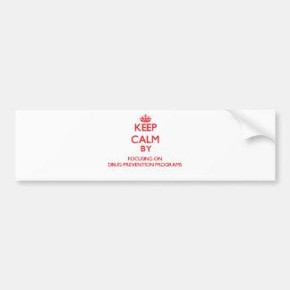 Mantenha a calma centrando-se sobre programas da adesivo