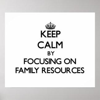 Mantenha a calma centrando-se sobre recursos da poster