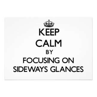 Mantenha a calma centrando-se sobre relances later
