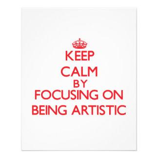 Mantenha a calma centrando-se sobre ser artístico panfleto personalizado