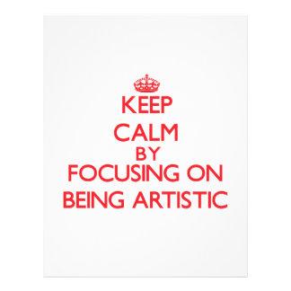 Mantenha a calma centrando-se sobre ser artístico panfletos coloridos