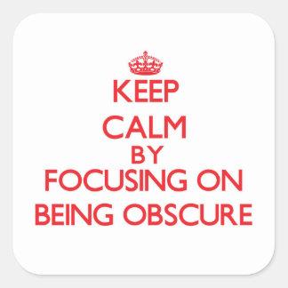 Mantenha a calma centrando-se sobre ser obscuro adesivo