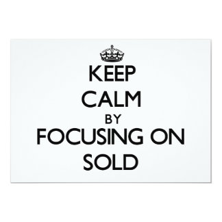 Mantenha a calma centrando-se sobre Sold Convite