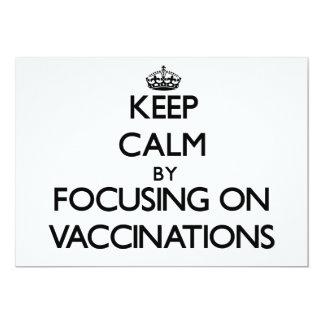 Mantenha a calma centrando-se sobre vacinações convite