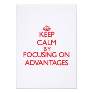 Mantenha a calma centrando-se sobre vantagens convite