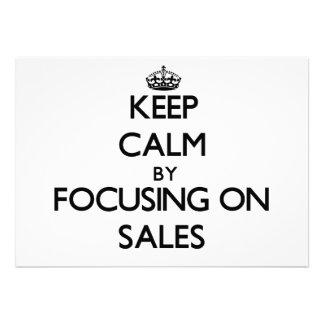 Mantenha a calma centrando-se sobre vendas