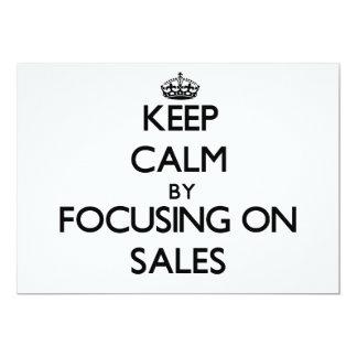 Mantenha a calma centrando-se sobre vendas convite personalizado