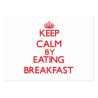 Mantenha a calma comendo o pequeno almoço modelos cartões de visitas