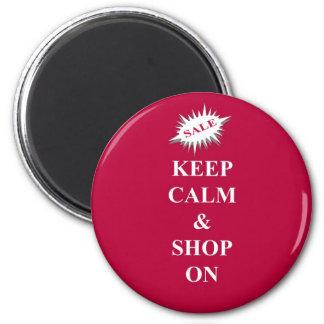 mantenha a calma & comprar sobre ímã redondo 5.08cm