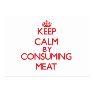 Mantenha a calma consumindo a carne cartões de visita