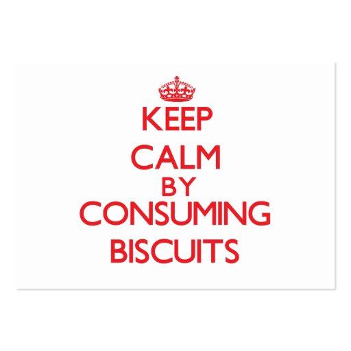 Mantenha a calma consumindo biscoitos cartoes de visitas