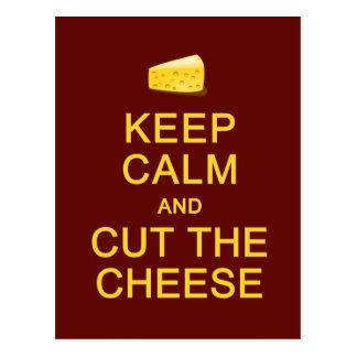 Mantenha a calma & corte o cartão do queijo,