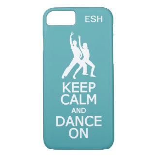 Mantenha a calma & dance em capas de telefone