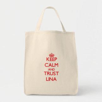Mantenha a calma e a CONFIANÇA Lina Sacola Tote De Mercado