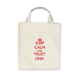 Mantenha a calma e a CONFIANÇA Lina Bolsa Para Compra