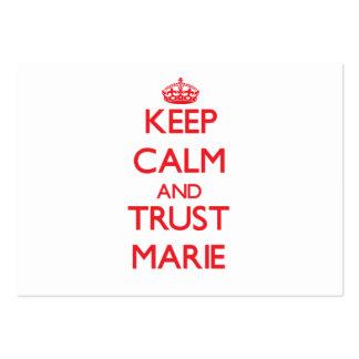 Mantenha a calma e a CONFIANÇA Marie Cartões De Visita