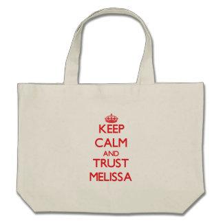 Mantenha a calma e a CONFIANÇA Melissa Bolsa Para Compra