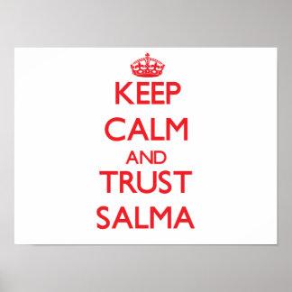 Mantenha a calma e a CONFIANÇA Salma Impressão