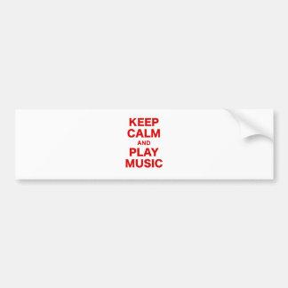 Mantenha a calma e a música do jogo adesivos