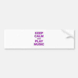 Mantenha a calma e a música do jogo adesivo para carro