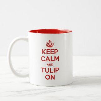 Mantenha a calma e a tulipa no 🌷 da caneca