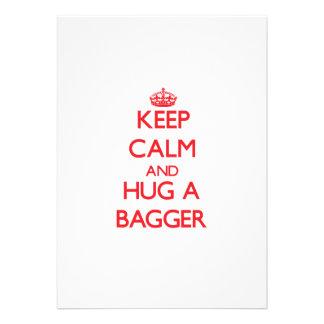 Mantenha a calma e abrace um Bagger Convite Personalizado