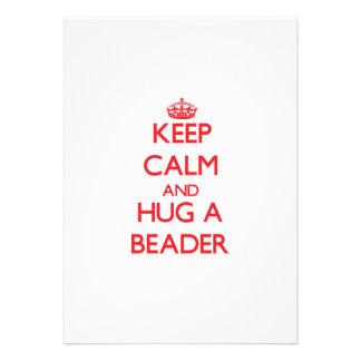 Mantenha a calma e abrace um Beader Convite Personalizado