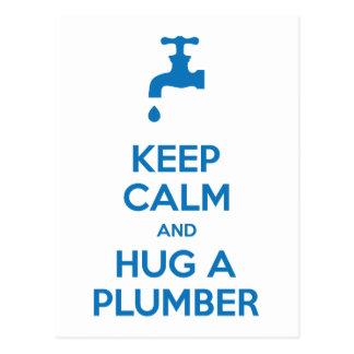 Mantenha a calma e abrace um cartão do canalizador