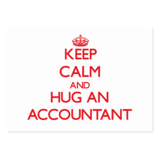 Mantenha a calma e abrace um contador cartoes de visitas