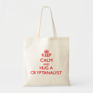 Mantenha a calma e abrace um Cryptanalyst Bolsas De Lona