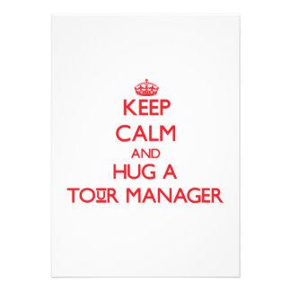 Mantenha a calma e abrace um gerente da excursão convites personalizado