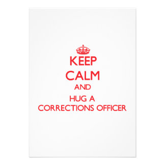Mantenha a calma e abrace um oficial de correções convite personalizado