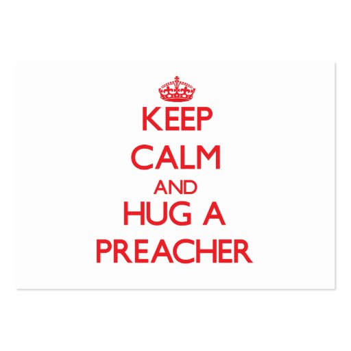 Mantenha a calma e abrace um pregador modelo cartao de visita