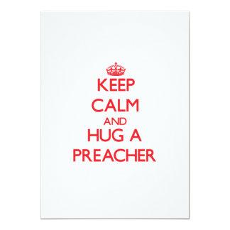 Mantenha a calma e abrace um pregador convite 12.7 x 17.78cm