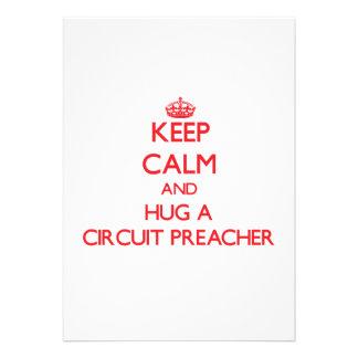 Mantenha a calma e abrace um pregador do circuito convite