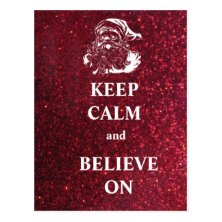 Mantenha a calma e acredite-a no cartão cartao postal