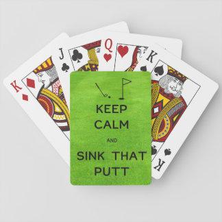 Mantenha a calma e afunde essa tacada leve jogo de baralho