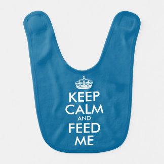 Mantenha a calma e alimente-me babador