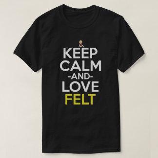 Mantenha a calma e ame a camisa do Anime de feltro T-shirts