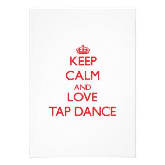 Mantenha a calma e ame a dança de torneira convites personalizados