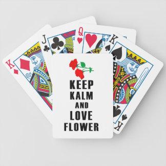 mantenha a calma e ame a flor jogos de baralho