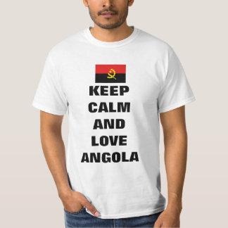 Mantenha a calma e ame Angola Camiseta